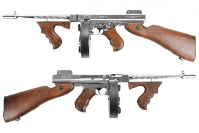 Автомат King Arms Thompson M1928 Chicago Grand Special Silver фото, описание