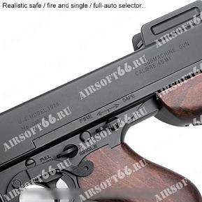 Автомат King Arms Thompson M1928 Chicago Black фото, описание